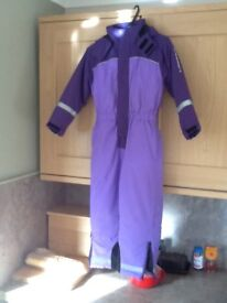 Childs all in one ski suit