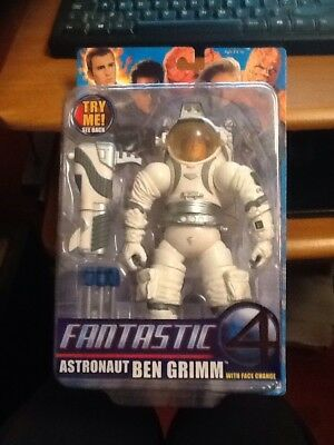 Toy Biz Fantastic Four 4 Movie Figure Astronaut Ben Grimm With Face Change