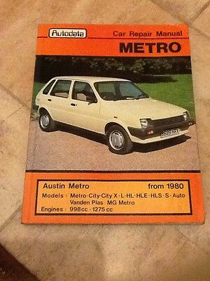METRO CAR REPAIR MANUAL FROM 1980 By AUTODATA