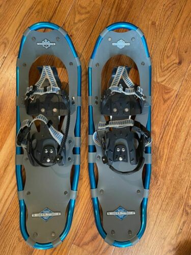 LL BEAN Winter Walker 26 Adult Aluminum Snow Shoes Blue Grey - Up to 200 Lbs
