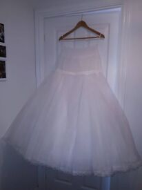 2 Hoop Underskirt for Wedding Dress or Ball Gown - Size 10/12