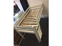Solid Pine Mid-sleeper In White