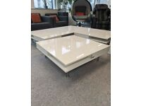 FREE DELIVERY - IKEA TOFTERYD Coffee Table, High-Gloss White 95x95cm