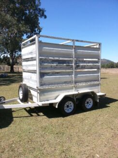 Heavy duty tandem trailer with crate Ipswich Ipswich City Preview