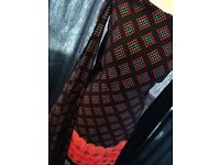 Black and Red Chunri Pattern/Print, Fully Stitched - Zee.H.M Fashion for £11.99