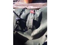 leeda green waders size 8 unwanted item no leaks