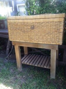 Toy box or a treasure chest, wicker basket on a stand Coogee Eastern Suburbs Preview