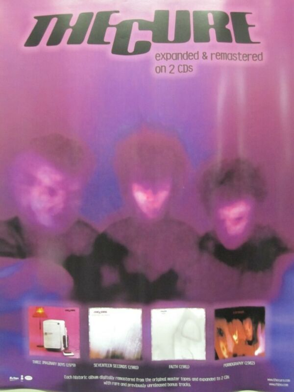 The Cure 2006 Expanded & Remastered promotional poster Excellent New Old Stock