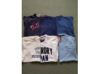 6 Mens T-Shirts (G-Star, Fred Perry, Penguin, J&J, Superdry), Size Medium, check description
