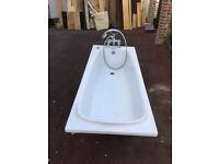 Bath tub + taps & shower + trap