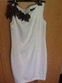 Unique white dress size 10