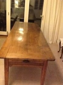 19th century French beech table