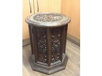 Old Wooden effect hard plastic table/cupboard £15