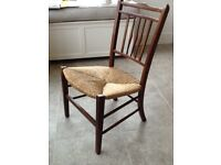 Country style rush seated nursery chair
