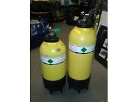 Dive cylinders and Torch Battery bracket for sale
