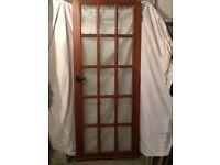 Internal Georgian style glazed door
