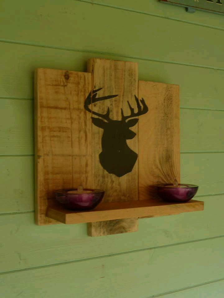 Rustic hand made floating shelve