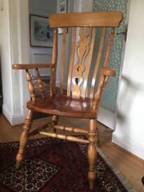 Farmhouse Style Beech Arm Chair