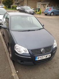grey 07 plate vw volkswagen polo 1.4