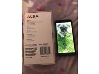 unlocked alba 5.72 duel sim mobile phone only two months old! Perfect condition