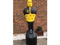 Bruce Lee slam man, boxing electronic free standing punch bag
