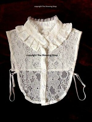 LEAD REIN SHOWING -  LACE FAUX HIGH FRILLED COLLAR