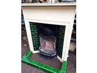 Cast Iron Fire And Surround with original Tiles