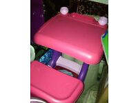 Pink drawing table