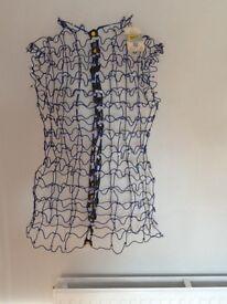 Vintage blue wire mesh mannequin . Dressmaking / Art / Decorative. Adjustable size