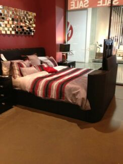 *PRICE DROPPED* Queen size vision bed (not including mattress or tv)