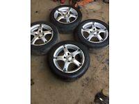 Bk racing 4x100 Alloy wheels