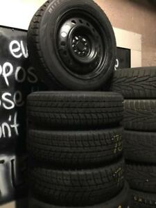 185 60R 65R 15 BRIDGESTONE BLIZZAK WINTER SNOW TIRES & RIMS 5X100 10/32NDS HONDA CIVIC FIT SUBARU TOYOTA YARIS MINT COND