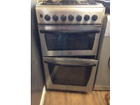 gas cooker indesit silver