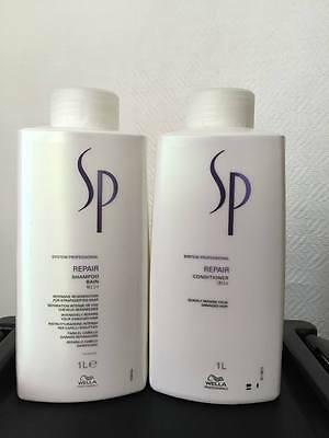 Wella SP REPAIR Shampoo and Conditioner 1000ml
