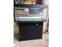 200 litres tank and cabinet