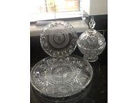 Lead crystal glassware pinwheel design