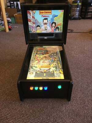 Deluxe Mini Virtual Pinball Machine Pure Black ***2 x CABINETS ONLY***