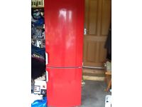 Red Gorenje fridge freezer (model RK61811RD) in good working order for sale due to replacement