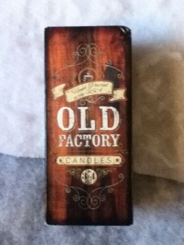 Old Factory Candles Natural Soy Wax Razor Leather Mahogany