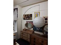 IKEA curved floor standing lamp Copley Mill LOW COST MOVES 2nd Hand Furniture STALYBRIDGE SK15 3DN