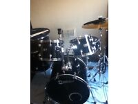 Black Premier Olympic Drum Kit in GREAT condition with extras £160