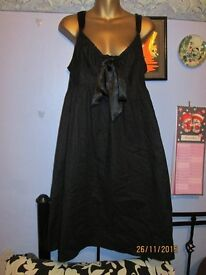 BLACK DRESS SIZE 16 BRAND NEW BY TU- CHUZY GREAT FOR NIGHT OUT OR PARTY TAGS SAYS £35
