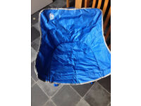 Coleman Kickback Chair - Blue With Spots
