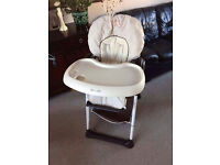 HAUCK BEAR SIT N RELAX 2 IN 1 HIGHCHAIR BABY HIGH CHAIR / BOUNCER