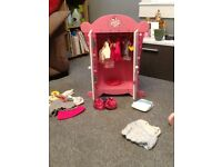 Dressing table,dolls house,play wardrobe