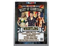Wrestling in Bedford. 27th November