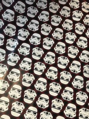 4m 8m 12m 16m STORMTROOPER WRAPPING PAPER BIRTHDAY PRESENT STAR WARS NEW