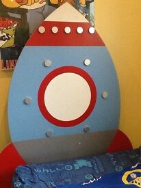 Spaceship headboard