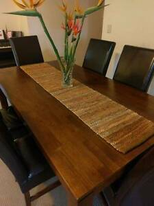 Timber Dining Table & 6 Chairs Sutherland Sutherland Area Preview