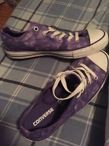 Purple stonewashed looking converse